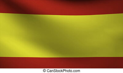 spain flag waving gently in wind