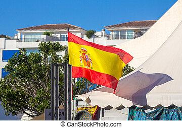 Spain flag waving in the wind