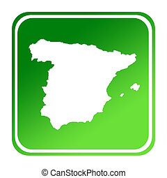Spain green map button