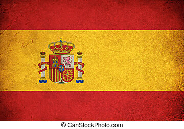Spain grunge flag illustration of european country