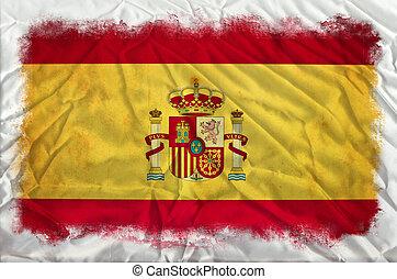 Spain grunge flag