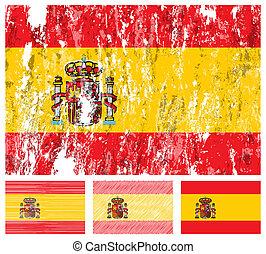 Spain grunge flag set
