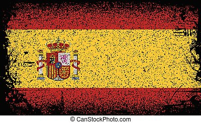 spain Grunge flag. vector Background Illustration