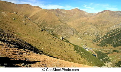 Spain high mountains on the Pyrenees