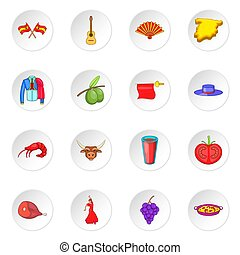 Spain icons set