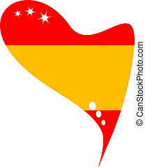 spain in heart. Icon of spain flag - spain in heart. Icon of...