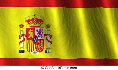 Spain looping flag
