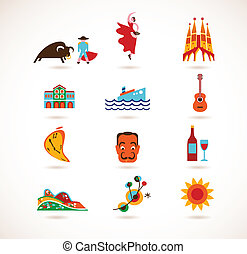 Spain Love - set of vector icons - Spain Love - collection...