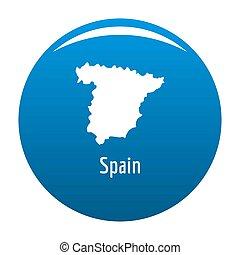 Spain map in black simple