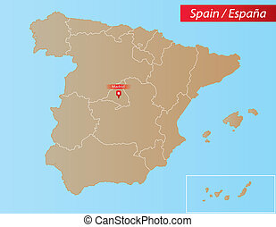 Spain Map - Map of Spain With islands and Autonomous...
