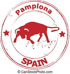 spain-, pamplona-, espana