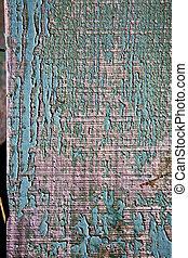 spain piece of colorated gree door in lanzarote