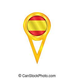 Spain pin flag