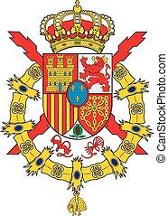 Spain royal coa - Various vector flags, state symbols,...