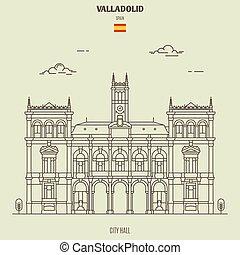 spain., señal, ayuntamiento, valladolid, icono