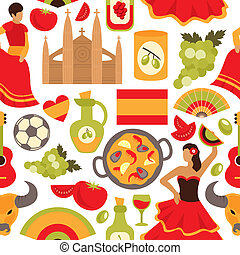 Spain seamless pattern