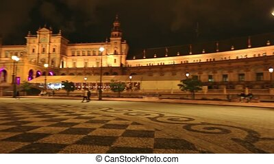 Spain Square bridge Seville - 360 degrees view of the Plaza ...