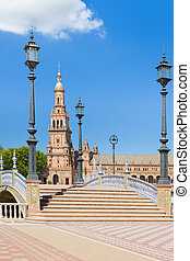 Spain Square in Seville in a summer day