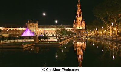 Spain Square Seville - Renaissance building in Plaza de ...