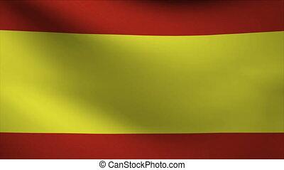 spain flag waving gently in wind