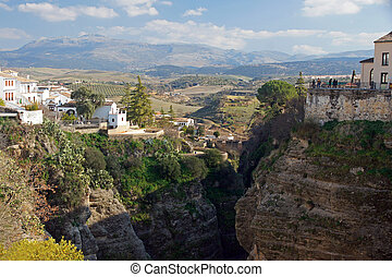 Spain: the town of Ronda and the 100m deep El Tajo gorge