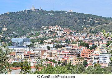 Top-view of Barcelona
