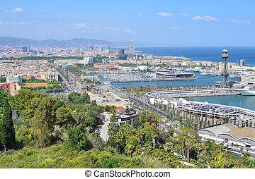 Spain. Top-view of Barcelona
