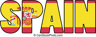 Spain typo with falg