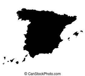 Spain vector map outline
