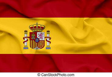 Spain waving flag