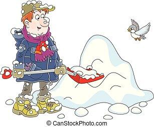 spalare, uomo neve