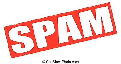 Spam - Stamp with word spam inside, vector illustration