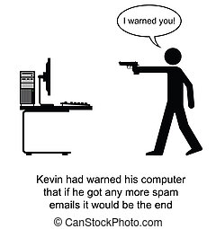 Spam Emails - Kevin finally had enough of spam emails...
