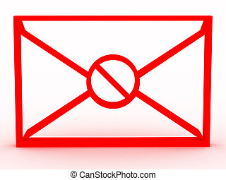 spam., enveloppe, image, 3d