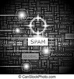 SPAM. Word cloud illustration. Tag cloud concept collage.