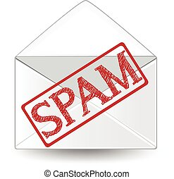 Spam - An envelope marked as spam.