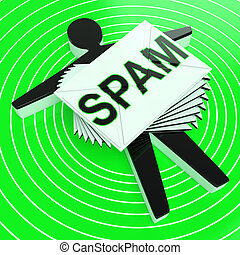 Spam Target Shows Junk Unsolicited Unwanted E-mail - Spam...