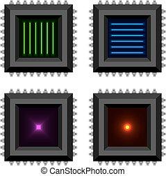 span, kern, elektronisch, eps10, glühen