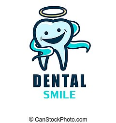 spandoek, day., stomatology, illustratie, logo, vector, ...