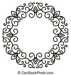 spandoek, elements., frame, elegant, vector, floral, illustration.