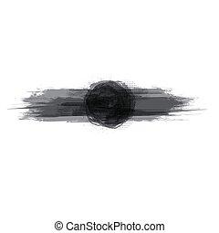 spandoek, horizontaal, grunge, transparant, black