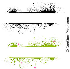 spandoek, kleuren, frame, grunge, twee