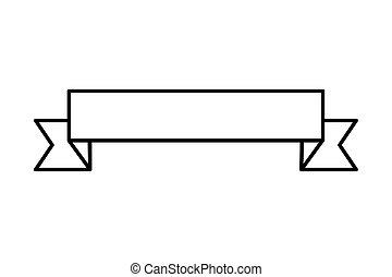 spandoek, lint, pictogram