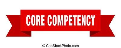 spandoek, meldingsbord, competency, ribbon., papier, kern, ...