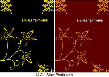 spandoek, met, floral decoratie