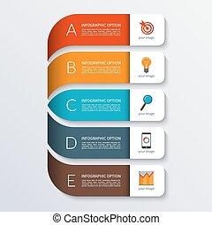 spandoek, moderne, infographics, zakelijk