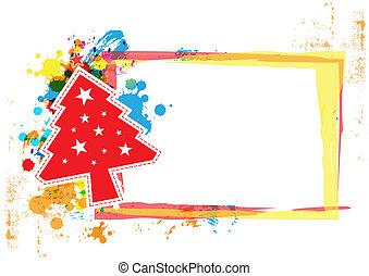 spandoek, ontwerp, grunge, kerstmis, achtergrond