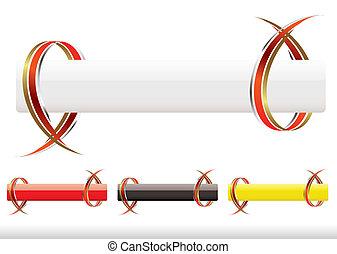 spandoek, ribbow, strook