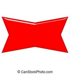 spandoek, rood, 3d