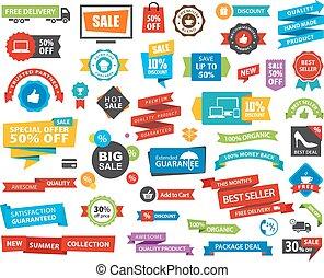 spandoek, sticker, vector, label, etiket